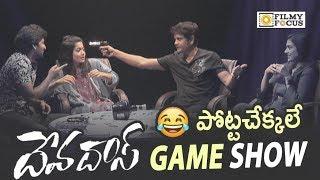 Devadas Movie Team Funny Game Show    Nagarjuna, Nani, Rashmika, Akanksha Singh - Filmyfocus.com