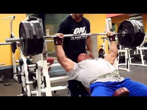 "Stan Efferding ""Rhino"" 495 Pound Incline Bench Press X 5 Reps."