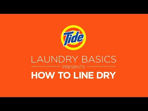 Tide | Laundry Tips: How to Line Dry Your Clothing
