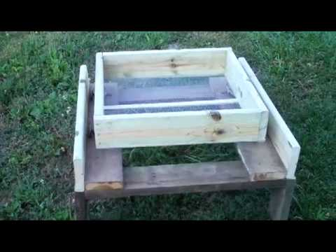 Homemade Dirt Sifter