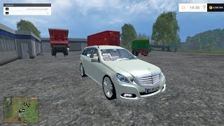 farming simulator 2015 mercedes benz e350 cdi car mod
