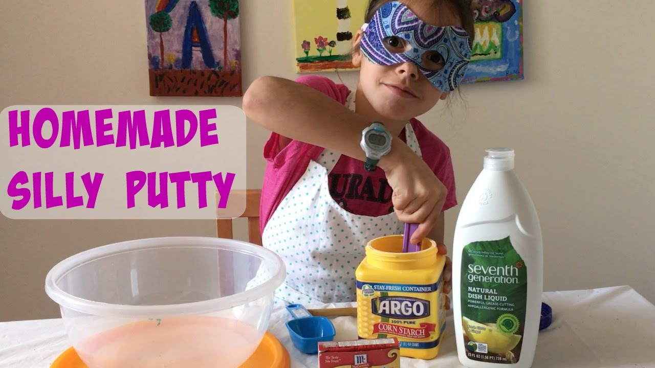 How to make silly putty with corn starch and dish soap youtube ccuart Images