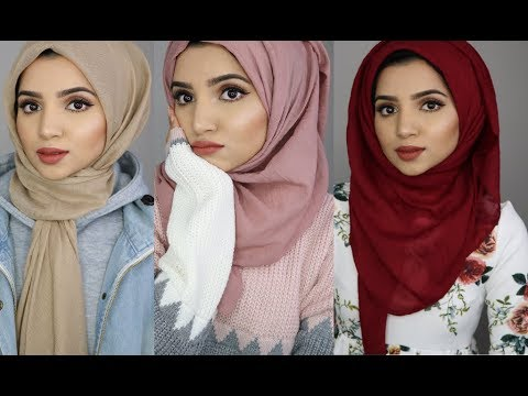 4 Simple Hijab Styles Using Viscose Material thumbnail