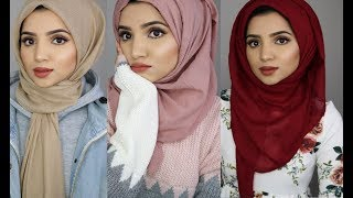 4 Simple Hijab Styles Using Viscose Material