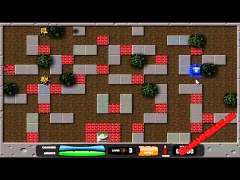 Игры для мальчиков Танки в лабиринте 2