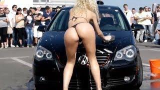 Девушки моют машины и танцуют. Авто приколы. Приколы с видеорегистраторов водителей