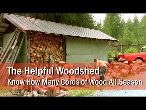 The Helpful Woodshed: know how many cords of wood all season
