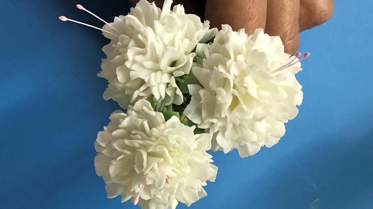 Gumpaste Flower Paste Carnations Youtube