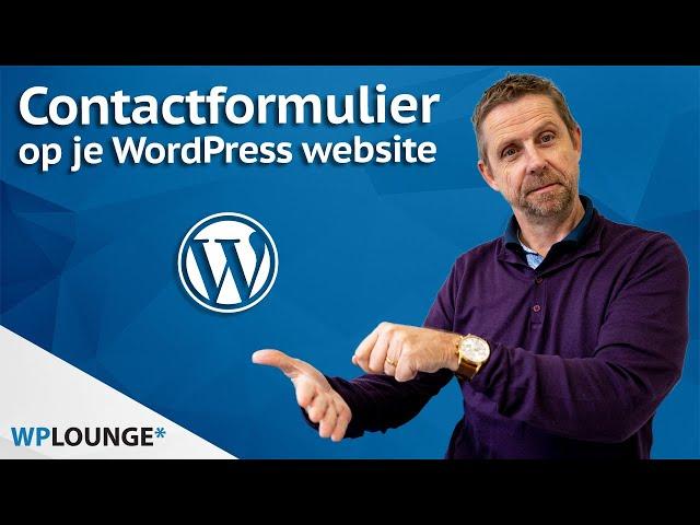 Een contactformulier maken in WordPress met WPForms | 2020