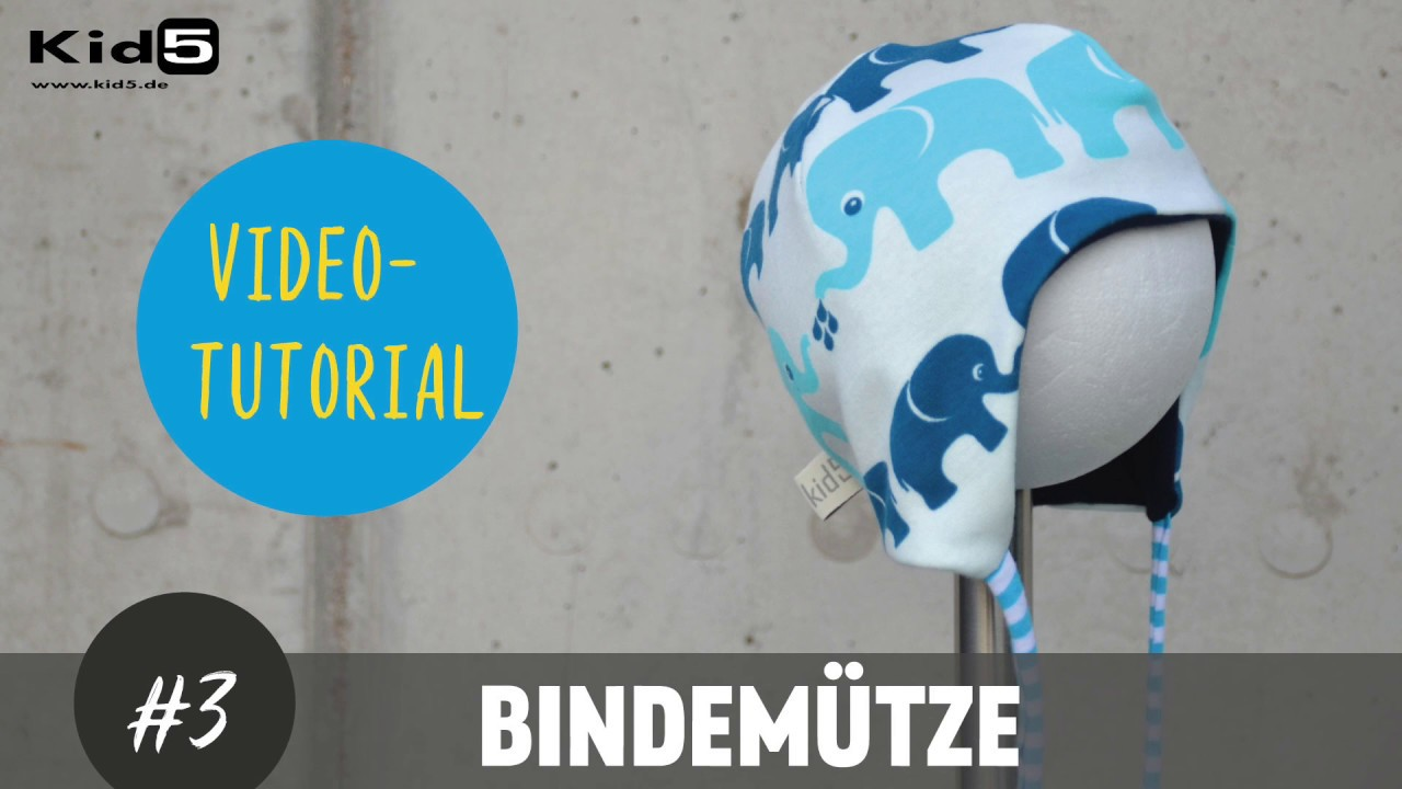Baby Bindemütze selber nähen DIY-Näh-Tutorial - YouTube