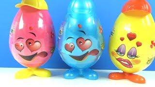 Haylaz suratlar 3 dev sürpriz yumurta açıyoruz Emoji suratlar eğlenceli çocuk videosu Toys and Fun