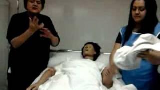 lavado de paciente en cama  enfermeria basica