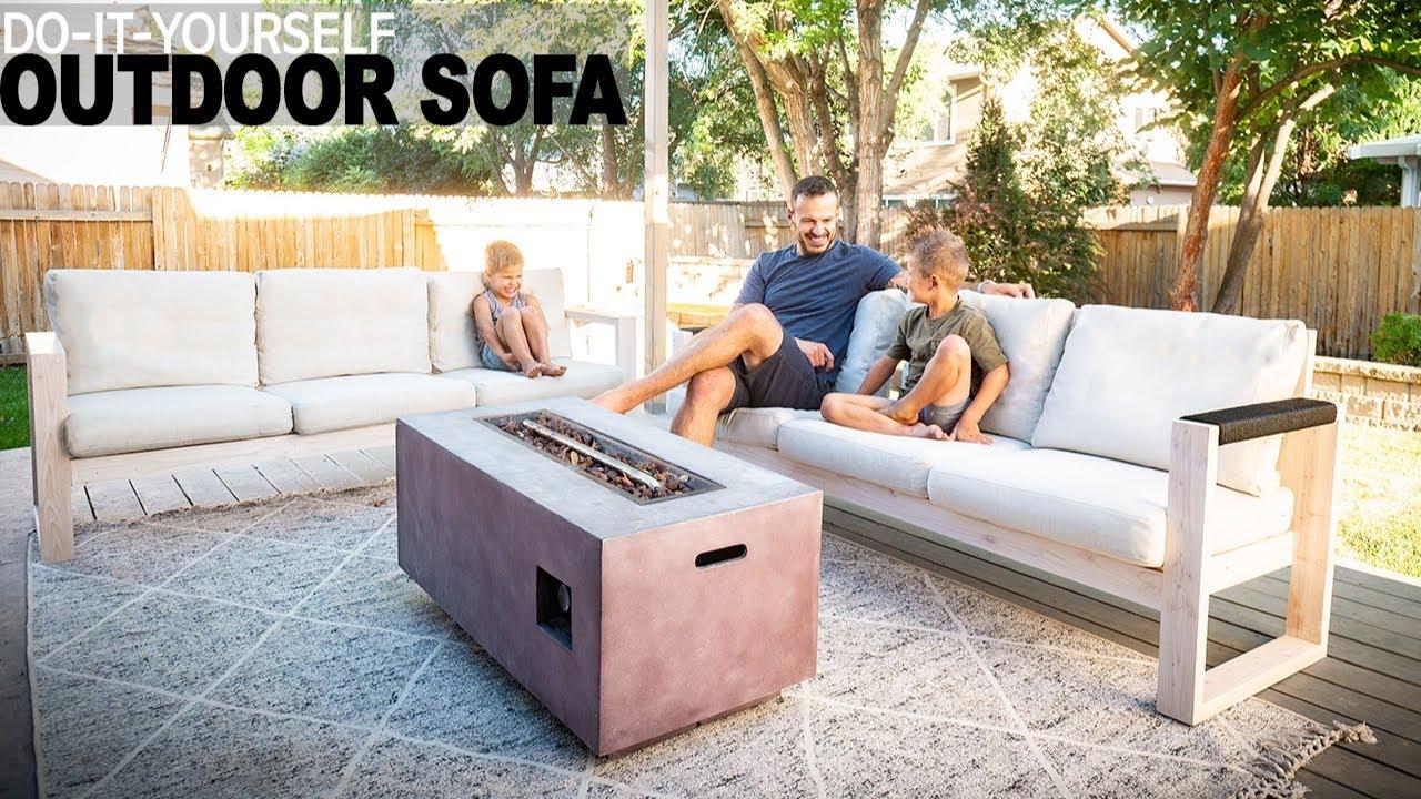 DIY OUTDOOR SOFA