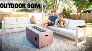 DIY OUTDOOR SOFA
