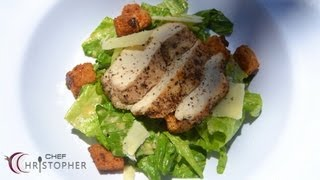 Chicken Caesar Salad With Home Made Croutons And Dressing