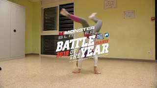 PRÉSENTATION BGIRL KIMIE   Monster Blaster Battle Of The Year France 2018   BATTLE 1vs1 Bgirl