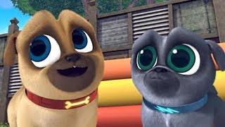 Играем вместе с дружными мопсами 05 Грандиозное Дай пять мультик Disney про щенков