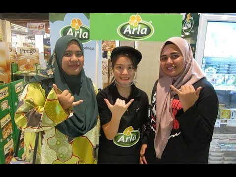 Arla Foods dairy products @ the Mid Valley Culinary Food Fair Part # 1 ~ Mahalo JC