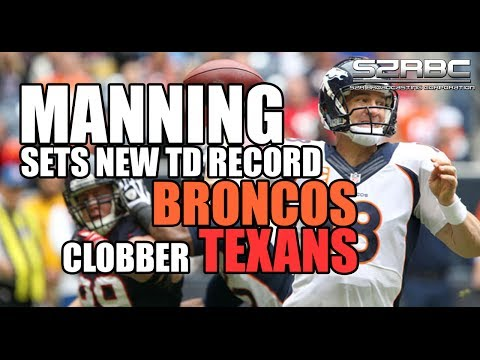 Peyton Manning Sets Touchdown Record, Denver Broncos Win AFC West