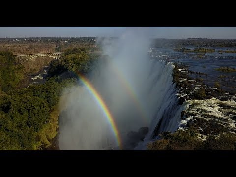 Victoria Falls by Drone & Time to Say Goodbye - Andrea Bocelli