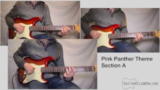 Pink Panther Theme - Lead, Rhythm & Bass guitar arrangement - Beginner/Intermediate