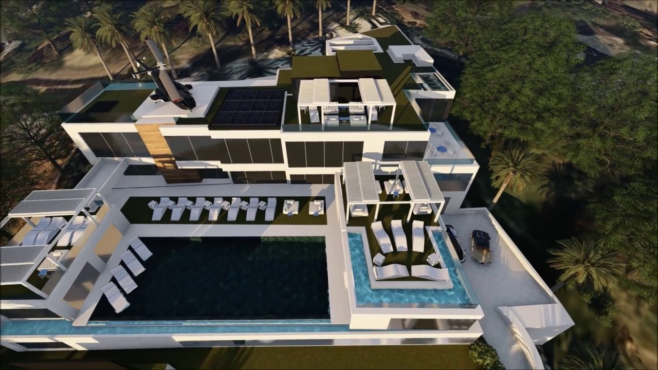 the most expensive home in the u.s. | 924 bel-air rd in 3d - youtube