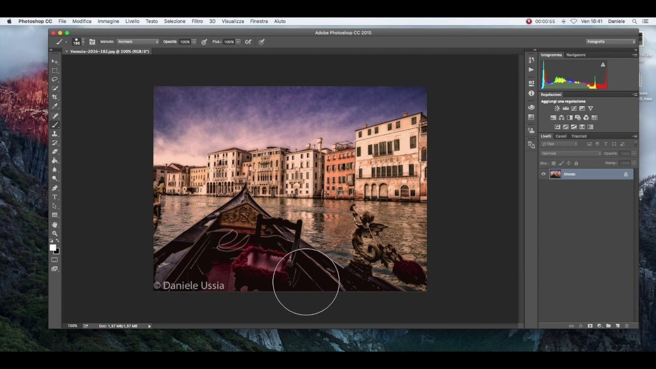come perdere una foto in photoshop