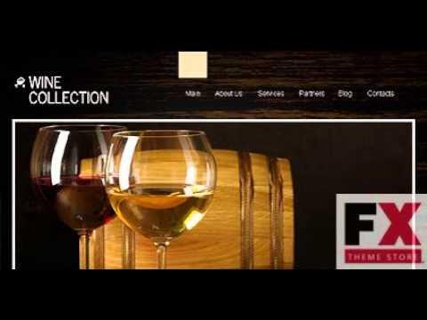 Preview Black Wine WordPress Theme By Mira TMT