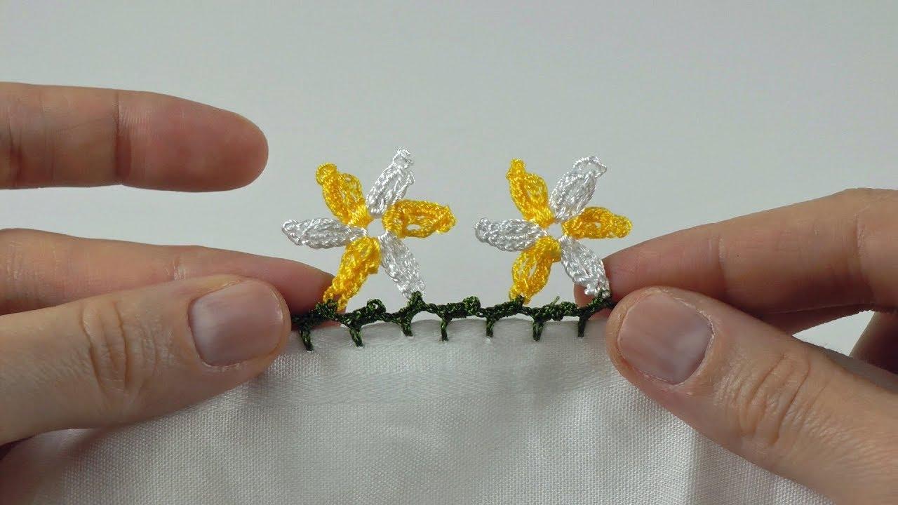 İlmek Motifli Kelebek Oyası