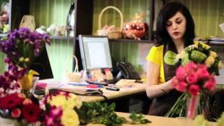 Свадебный букет из зеленых роз