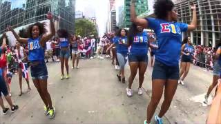 Hermandad de Sigma Iota Alpha, Inc. supporting the 33rd Annual Dominican Day Parade, August 10, 2014