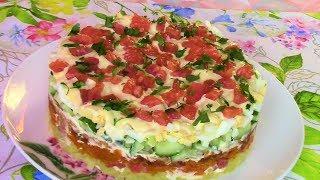 Лучший САЛАТ для НОВОГОДНЕГО СТОЛА! Праздничный салат с красной рыбой вместо ОЛИВЬЕ!