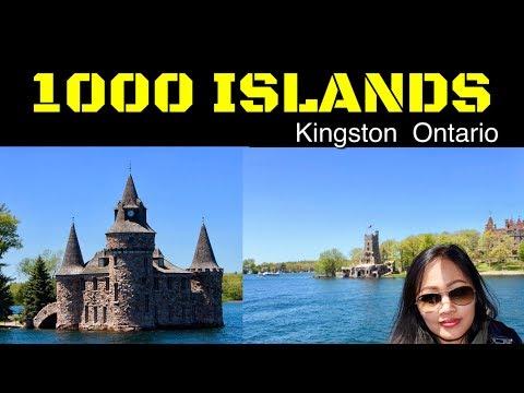 1000 Islands  Boat Tour. Cruising At Gananoque, Kingston Ontario Canada