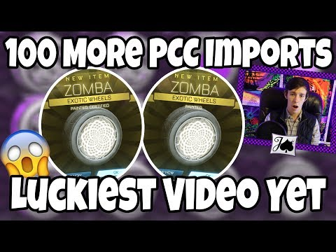 2 WHITE ZOMBA, 1 VIDEO (Rocket League Double Painted Weekend) thumbnail