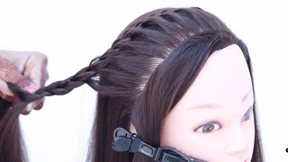 5 basic open hairstyle for every girl | simple hairstyle | ponytail hairstyle | wedding hairstyle