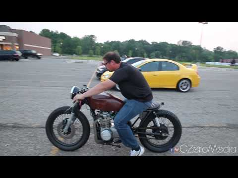 Friends Ride My CB550 Cafe Racer