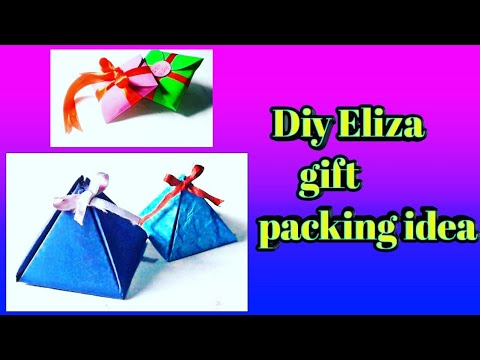 Two beautiful gift packing ideas | paper pyramid & paper box | by Diy Eliza