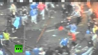 Dramatic police footage: Belfast riots leave 20 wounded