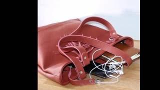 Handgemaakte leren tas