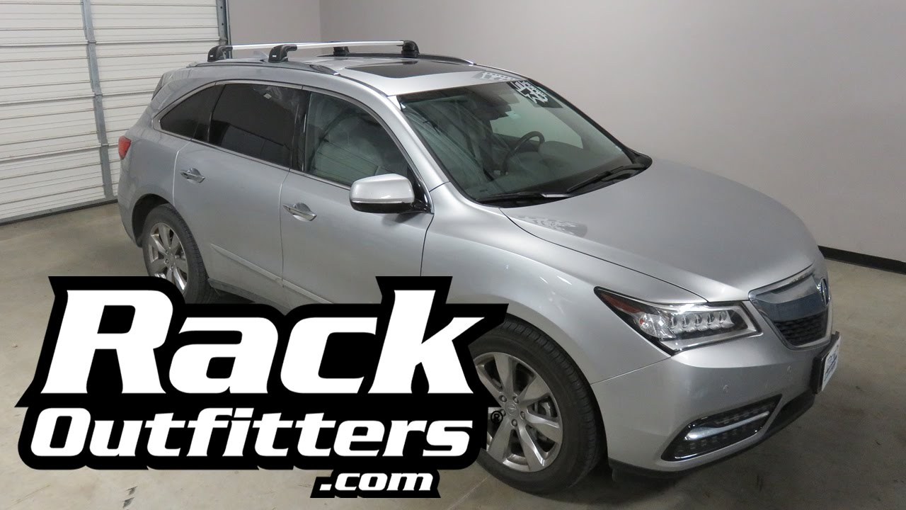 Acura Mdx With Thule Aeroblade Edge Roof Rack Cross Bars