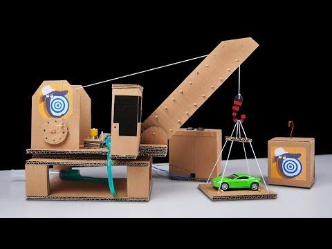 How to Make Hydraulic Crane from Cardboard