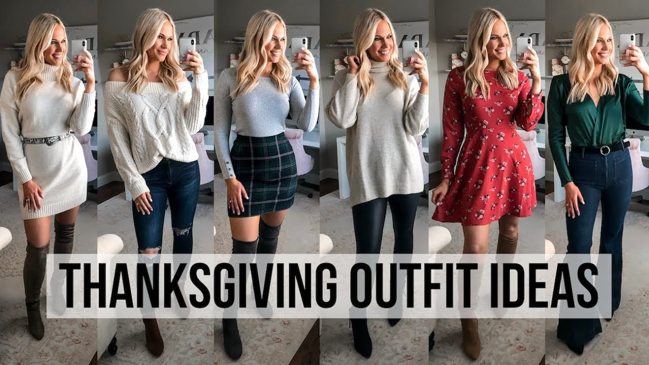 [VIDEO] - 8 THANKSGIVING OUTFIT IDEAS 2019 | CASUAL & DRESSY! 3