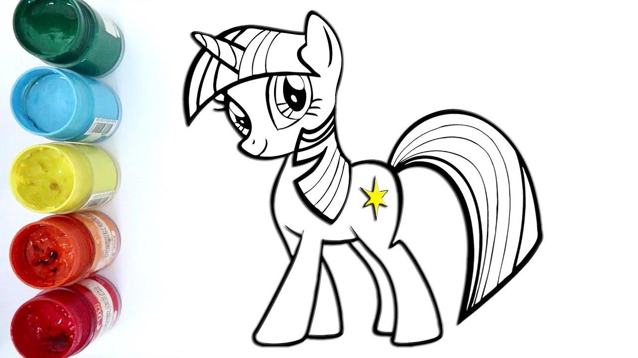 Cara Menggambar Dan Mewarnai Twilight Sparkle My Little Pony Youtube