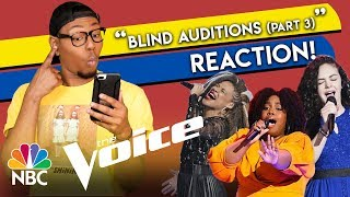 The Voice S15 Blind Auditions | Chevel Shepard, Kymberli Joye, SandyRedd (Part 3)