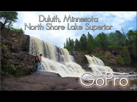 Duluth, Minnesota. North Shore Lake Superior Part 1. Gooseberry Fall, Split Rock Light House.
