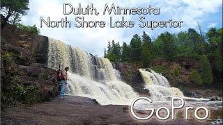Duluth, Minnesota. North Shore Lake Superior Part 1. Gooseberry Fall, Split Rock Light House.