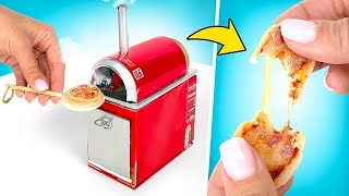 Cooking Pizza In A Miniature Oven Made Of Coca Cola Cans!