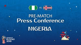 fifa world cup 2018 nigeria - iceland nigeria - pre-match pc