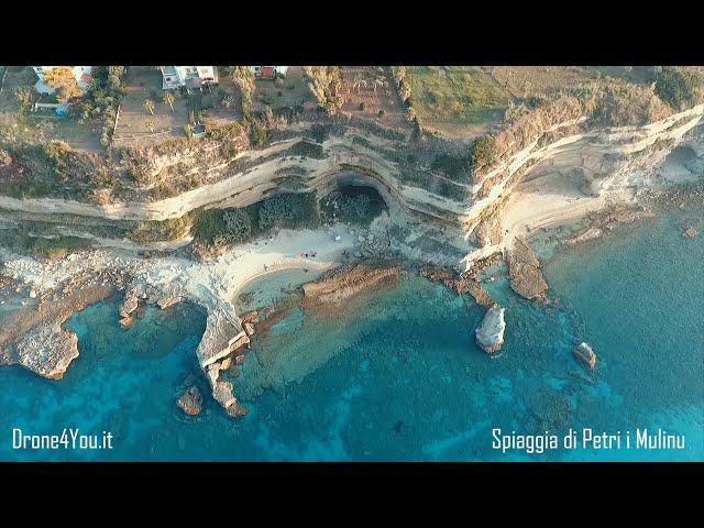 Drone 4k - Calabria - Spiaggia di Petri i Mulinu - Ricadi