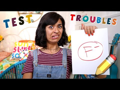 Test Troubles - School Study Hacks - Funny Skits : Just Giselle // GEM Sisters